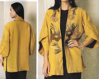 KOOS Van Den AKKER for VOGUE Pattern #v1493~Misses Sz Xsm-Med~Misses' Tulip Banded-Sleeve Kimono Jacket New