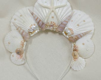 Shell mermaid crown - one of a kind mother of pearl