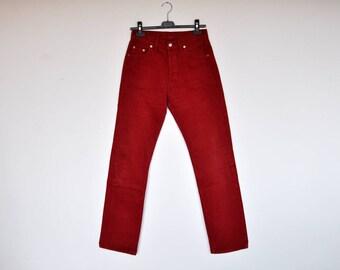 Vintage Levi's Red High Waist Denim Pants 29/32