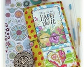 ON SALE OOAK Fauxdori, Fabric Collage Midori, ScrappyDori, Traveler's Notebook, Free Insert!