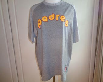 Vintage 1985 Reproduction Replica Baseball T-Shirt of the San Diego Padres, Size Adult Male Medium, A Nike Brand Cooperstown Collection top