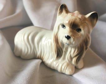 Vintage JAPAN Miniature Ceramic Dog