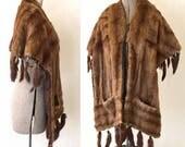 Vintage Mink Fur Cape Sto...