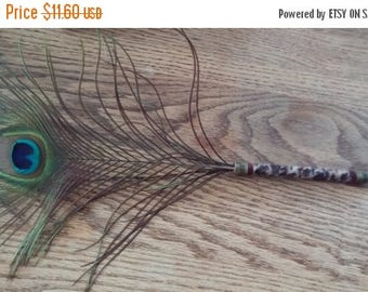 On Sale at Etsy Peacock Feather Pen, All Seeing Eye, 15.5 x 9 inches,Spell Writer,Wedding Sign In, Shower Gift, Centerpiece,Desk Acessory,Cr