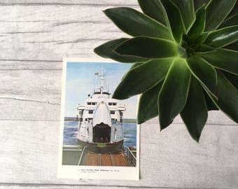 Vintage boat print, Nautical print, nautical wall art, nautical décor, antique nautical art, illustration print, seaman print, print nursery