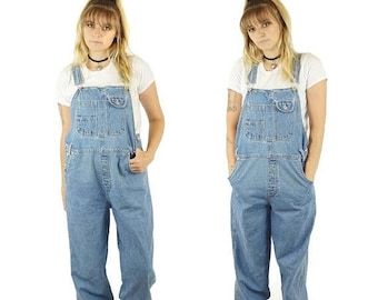 ON SALE Boyfriend 90s Baggy Overall, 90s Grunge, Vintage Dungarees, 90s Overalls Pants, Women's Size Small