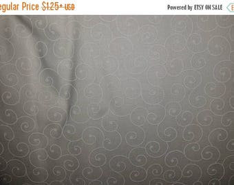 ON SALE Swirl, Floral Fabric, White, Tone on Tone, White Floral Fabric, White Floral Fabric, 01169A