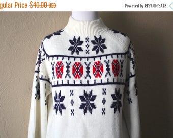 Clearance Sale Handsome 60's  Vintage Après Ski Sweater size M