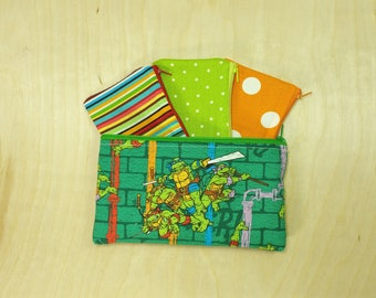 Kids Cash Envelope Wallet, Kids Cash Budget System, Give, Save, Spend -Tuttle Ninjas- for use with the Dave Ramsey System, READY to SHIP