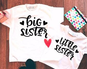 Big Sister Little Sister Set,Big Sister Little Sister Outfit,Big Sister Shirt,Little Sister Shirt,Sisters Set,Big Sister Little Sister