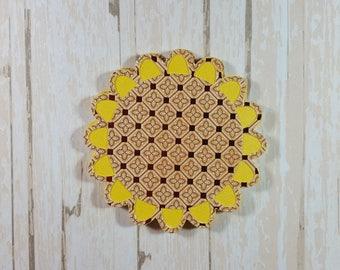 Flower fall die cut, Scrapbook embellishment, card topper, Tags Thanksgiving, Autumn, Sunflower