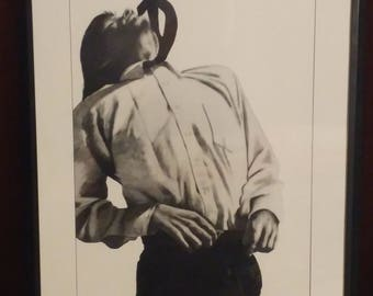 Robert Longo 1991 Men in the Cities: Eric hand signed art exhibit poster
