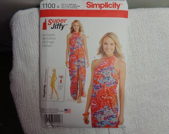Cover Up Gown Sewing Pattern UNCUT Simplicity 1100 Sizes 4-26-(XXS-XXL)