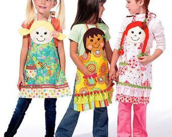 McCalls 6662 Kids Head Aprons sizes 3-8
