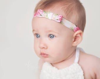SALE - Baby Girl Headband, Baby Headbands, Newborn Headband, Flower Headband, Baby Bows, Girls Hair Bows, Newborn Girl Headband, Girls Bow