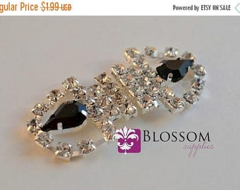 ON SALE CLEARANCE - Rhinestone Bridal Belt Buckle - Wedding Sash buckle - Clasp Closure - Diy Bridal - Vintage Inspired (Bb002)