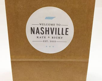 Welcome to Nashville Bag Sticker