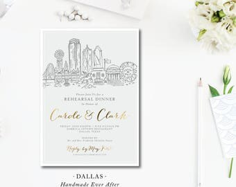 Dallas Scenes Rehearsal Dinner Invitations