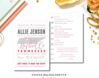 States Bachelorette Invitations