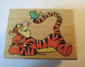 "Rubber Stamps "" Tiger by the Tail"" For scrapbooking  Slightly used good condition"