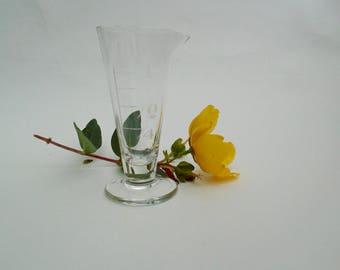 Vintage glass measuring jug medicine measure