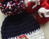 Boston red sox hat and sock set infant cap