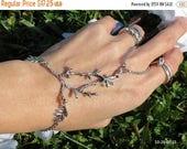 slave bracelet, ring bracelet, hand chain, hand jewelry, slave ring, bracelet ring, silver hand chain, hand bracelet, Elven Jewelry Tree