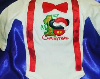 Custom My 1st Christmas Onsie and TuTu Set
