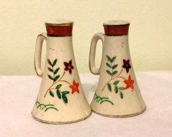 Vintage Decorative Salt and Pepper Shakers - Made in Japan