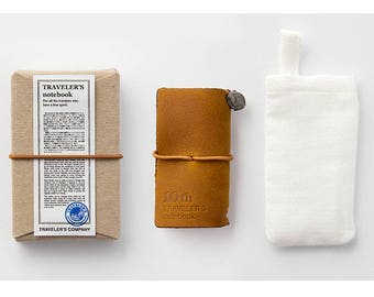 TRAVELER'S notebook Mini 10th Anniversary Can Set - Camel Color
