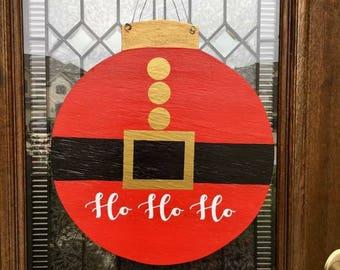 Santa's Belt Door Hanger