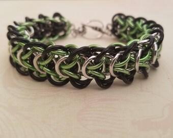 Slytherin Chain Maille Bracelet