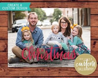 Printable CUSTOM Christmas Card Design