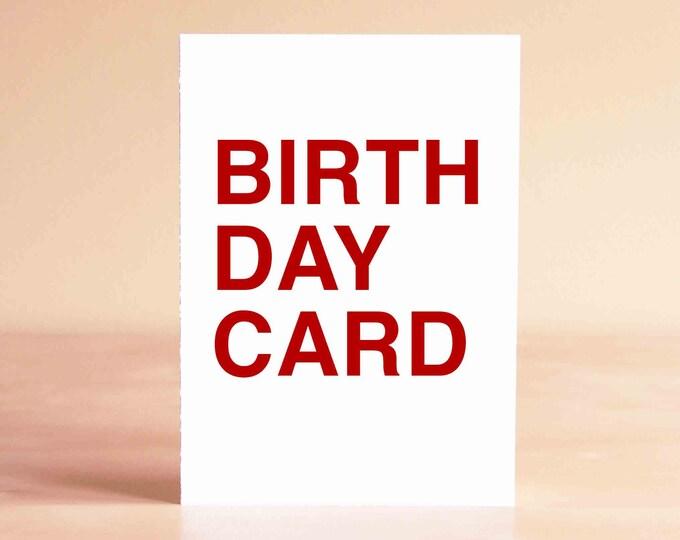Birthday Card Funny - Husband Birthday Card - Boyfriend Birthday Card - Funny Birthday Card - BIRTH DAY CARD