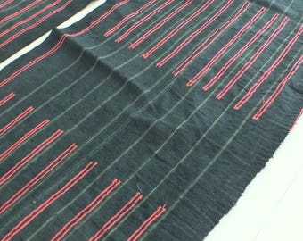 6 yards, Hmong  hemp Vintage fabrics and  textiles - Handwoven hemp-ethnic textiles from thailand