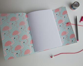 Flamingo Gift Dot Grid Lined Journal, Dotted Book, bujo, Leather Planner Notebook, white Leather Journal, Blank Book, mindfulness Journal