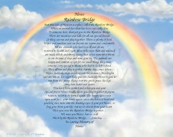 Reserved for Pam Rainbow Bridge-Any Pet Gift Personalized and Keepsake