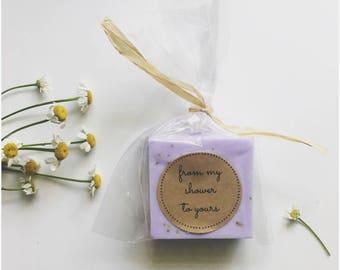 Purple Soap Favors for Wedding Favors, Lavender Soaps