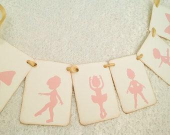 Pink Ballerina Princess Banner-Tutu Cute Birthday Baby Shower Banner-Princess Tea Party Garland
