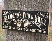 Wine Cellar Sign, Winery Sign, Custom Bar Sign, Wine Cellar Decor, Custom Sign, Craft Beer Sign, Wine Sign, Benchmark Signs Maple RG2