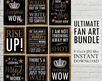 HUGE Printable Set of Hamilton Musical Inspired Quotes Subway Art Word Art Typography Poster, Hamilton Fan Art,  11x14 INSTANT DOWNLOAD