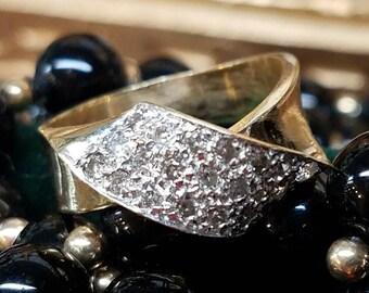 14K Yellow Gold Pavé Ring