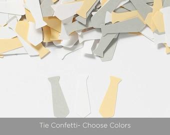 Little Man Baby Shower- Baby Boy Shower Decoration - Tie Confetti - Choose Colors