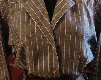 Vintage 1997 Classic Blue Stripe Liz Claiborne Dress