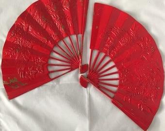 Vintage Mid-century Brass Asian Fan Wall Decor