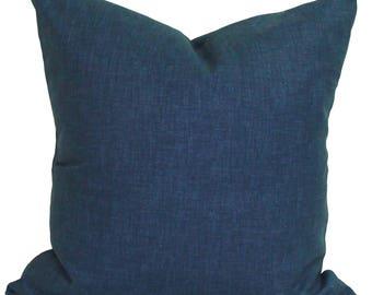 Indigo Blue Pillow, Throw Pillow, Pillow Cover, Cushion, Decorative Pillow, SOLID INDIGO Blue, Solid Blue Pillow. All Sizes, Cushion