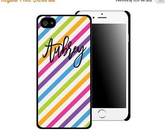 ON SALE NOW Neon Rainbow Personalized Printed Cell Phone Case / iphone 5/5s / iphone 6/6s and 6+ / Gift Idea / Gifts for Him / Gift for her