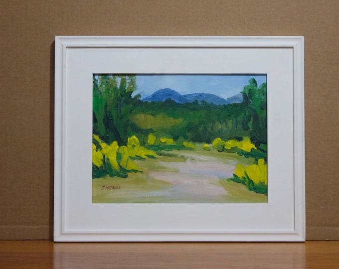 Plein Aire Painting Scotch Broom Oakridge Hilltop Framed Sherri McDowell Artist Oregon by heART