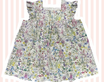 Girl's Liberty Print Blouse for Baby to 10 Years    Wild Flowers
