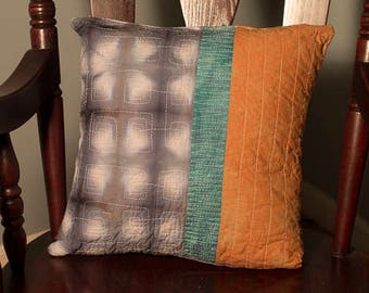 Shibori Quilted Pillow Cover